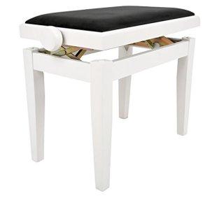 Navarra NV42 Banquette pour Piano blanc mat