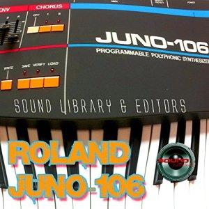 Pour Roland Juno-106Grande d'usine et de nouveaux Créé Bibliothèque de sons et Monteurs sur CD ou téléchargement