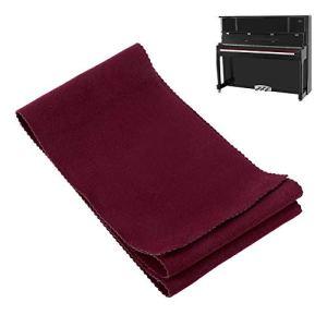 Queta Housse de Protection pour Clavier de Piano, Alimentation de Nettoyage Douce, Anti-poussière, Anti-humidité pour Instrument de Piano