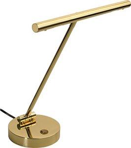 Steinbach Lampe de piano LED Rondo en laiton poli de qualité fabriqué en Allemagne