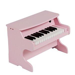 Wooden Piano Jouet Musical Piano 25Key Simulation Jeu pour enfants infantile début éducation, Violon, rose