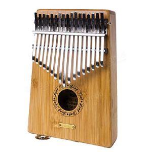 Generic 17Touches en Bambou Poche Pouce Doigt Mbira Kalimba Clavier Piano