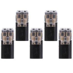 Matefield Lot de 5 connecteurs de câblage rapides pour câble LED 20-24 AWG (I / 2 broches)