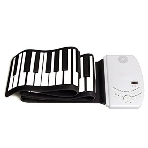 DH-K61 Ultra-Portable Flexible Keyboard 61 Keys USB Midi Soft Electronic Piano Keyboard for Beginner Children Practice Musical Instruments