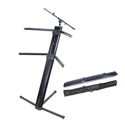 GDGQJRM Support de Clavier Support de Piano électrique Tablette de Clavier Double Couche Ascenseur de Levage Synthétiseur Support de Clavier Grand Spectacle Pliant et Portable en métal (Couleur : B)