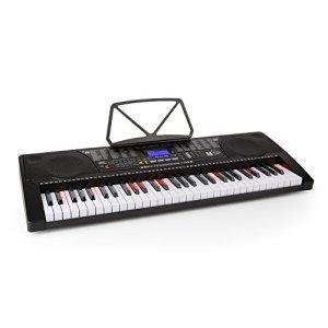 Schubert Etude 225 USB • Clavier • Clavier d'apprentissage • 61 touches • Touches lumineuses • Frappe dynamique • Fonction d'enregistrement • Fonction de lecture • 3 modes d'apprentissage • AUX • noir