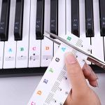 Autocollants pour piano transparent pour touches de piano Pour clavier 49/61 / 76/88 touches Multi-Color