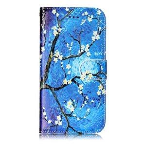 Étui portefeuille à rabat pour Samsung Galaxy avec support pliable pour cartes Samsung Galaxy S6 color one