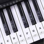 HATCHMATIC Trannt 54/61 / 88 Touches de clavier Touche autocollants Touches Piano Stave note Sticker clavier Instrument Piano Sticker