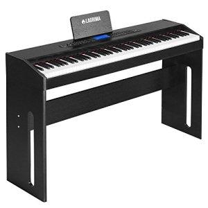 SUNCOO Clavier de piano numérique 88 touches avec pédales, adaptateur et USB/MP3 noir