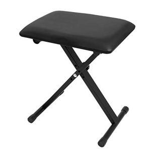 CASCHA Banc de clavier, tabouret de piano, réglable en hauteur, banc, chaise de piano, noir