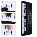 Balight clavier de piano transparent autocollant 88/61/54 clé clavier électronique Stave Piano Sticker note