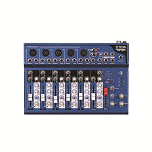 Synthétiseur analogique Conférence audio de performance en extérieur sur scène avec table de mixage pure à 7 canaux avec prise en charge du mixeur en direct MP3 Bluetooth/carte SD