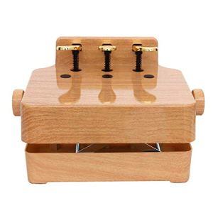 EXCLVEA Débutants Extender Bench Enfants Universal Enfants Lift Piano Pédale auxiliaire Booster Pédale for 2/3 pédales Upright Grand Piano électrique (Couleur : Wood, Taille : 38x28cm)
