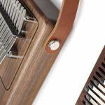 TZZD Piano à pouce Kalimba 17 touches, fabriqué en noyer pur, belle tonalité, facile à transporter et facile à apprendre, la couleur originale de la couleur du bois d'origine