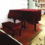 G-AO De haute qualité couverture du clavier de piano à queue de velours or doux antistatique antipoussière domestico pur (couleur: rouge, taille: 180 cm) (Size : Piano Cover)