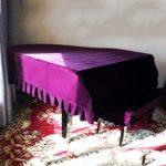 G-AO Triangle épaissi couverture piano antipoussière couverture piano tissu velours complet de couverture de tabouret couverture piano à queue tissu pleuche (couleur: couverture tabouret violet + doub