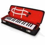 Instrument professionnel pour piano à bouche Mélodica – Clavier à bouche Piano Organ Mélodica avec embout buccal, accessoires tubes, pour débutant ou bande – Pyle (Noir)