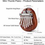 Kalimba 8 Clés,Kalimba Piano à pouce Professionnel Instrument de Musique avec Accessoires Doigt En Bois De Haute Qualité avec Tuning Hammer pour enfants adultes,débutants,professionnels et bande