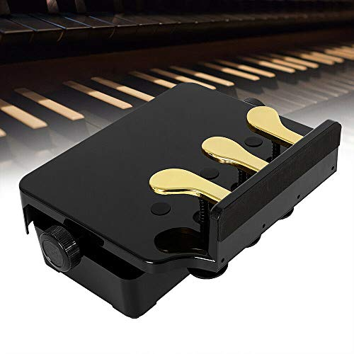 Pédale de piano pour enfant avec support de piano et amortisseur de pédale (Noir)