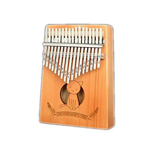 WXJHA Portable 17 Touches Acajou Piano Calimba Piano Piano Mahogany Doigt Piano Clavier de Musique Instrument avec chiffon d'essuyer pour Instruments de musique débutants Cadeau