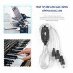 N/V Midi vers USB In-Out Interface Câble Adaptateur Pour Clavier Électronique Tambour Musique Créer Convertisseur Pc à Musique Clavier Cordon