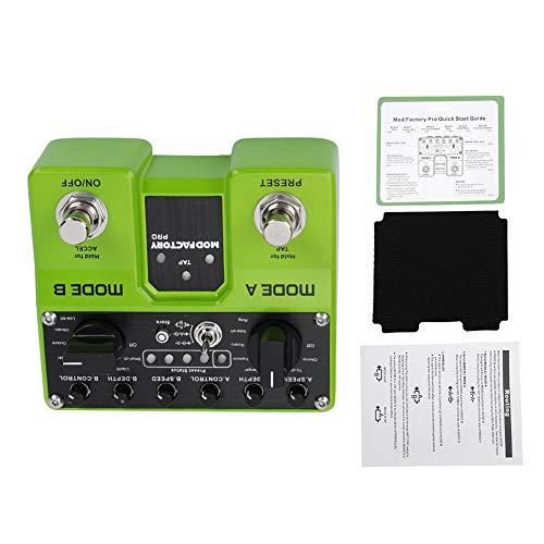 2 Pédale d'effet de modulation de traitement indépendante, effecteur de guitare électrique, accélération de l'effet ACCEL TAP vitesse définie pour les professionnels de la guitare électrique