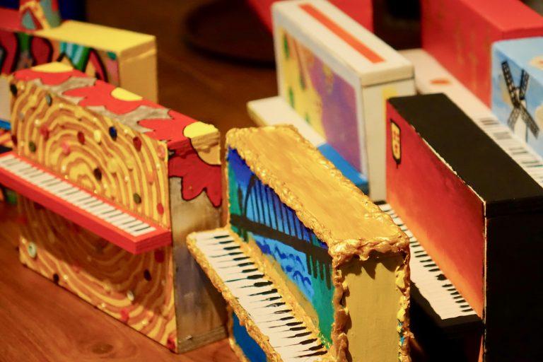 Kunstpiano miniatuur ontwerpen