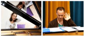 Pianoles Isabelle van Dooren en Henning Schmidt