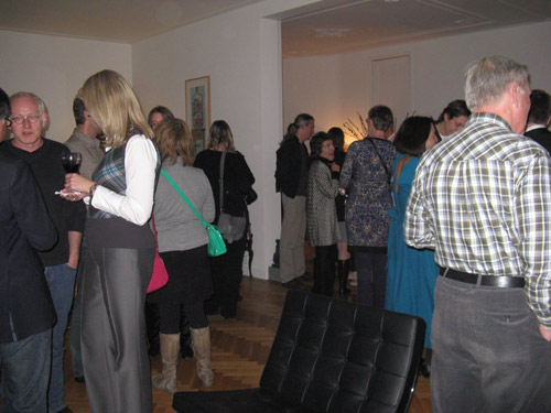The post-concert reception at Ivo and Paulien's herenhuis