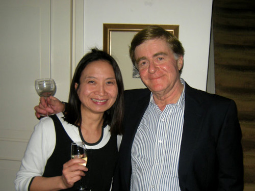 Anne Ku and artist Jim Collier in Amsterdam