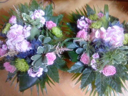 Big bouquets after a concert in Zeist