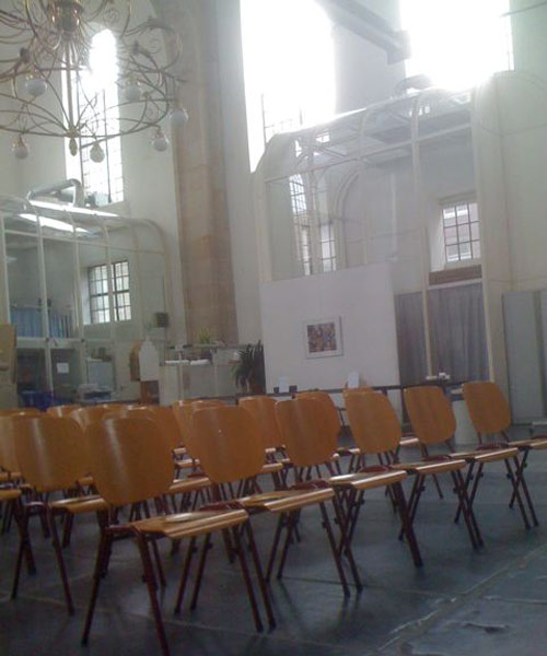 Empty seats at the Oosterkerk in Amsterdam