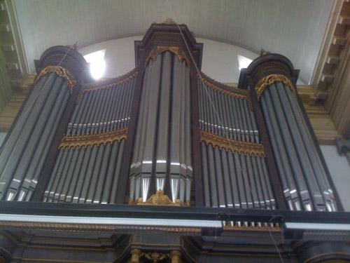 The organ in the Oosterkerk in Amsterdam