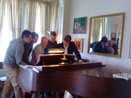 The Pischna Polka by Elizabeth Lauer: Five men on one piano in San Francisco, May 2011