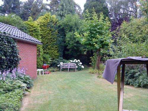 The well-kept garden near Utrecht