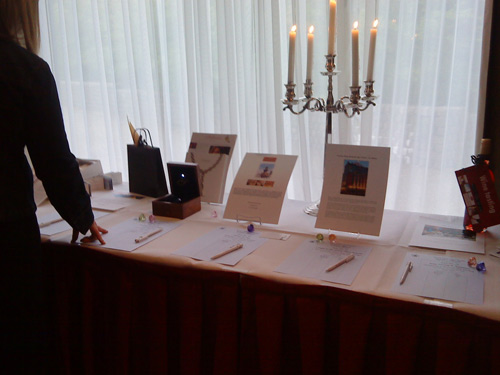 Silent auction at the American Women's Club of the Hague 80th Anniversary
