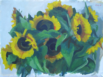 Sunflowers in Amsterdam by Rob van Veggel, 25 July 2009