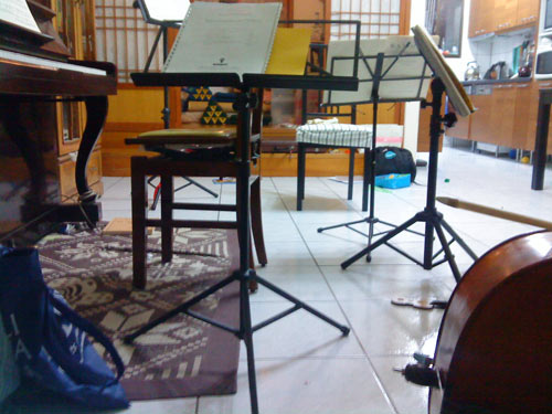 Rehearsal with string quartet in Taipei