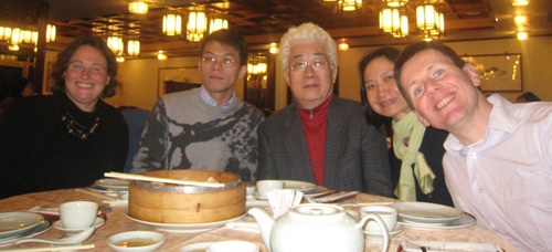 Shanghainese steamed dumplings with famous Taiwanese composer in Taipei