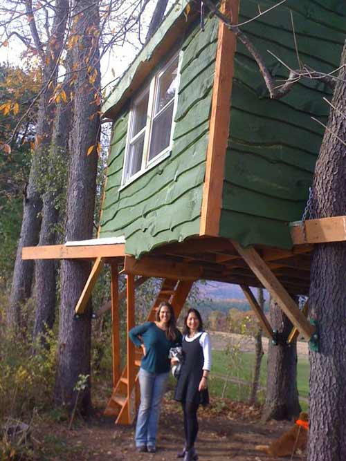 Tree house in Shelburne Falls, Massachusetts