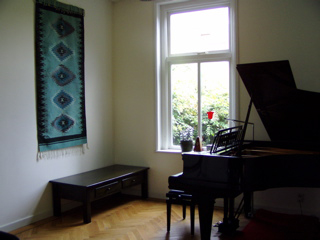 The piano room in the Monument House Utrecht