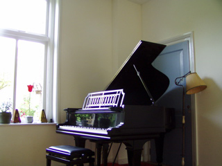 Steinway grand piano at Monument House Concert Series