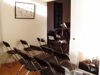 Empty chairs before a house concert in Utrecht