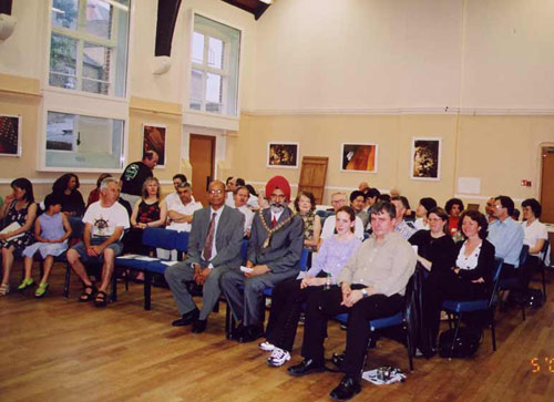Audience at Bekkers Piano Guitar Duo concert in Vestry Hall, London 30 May 2003