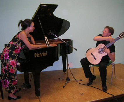 Anne Ku and Robert Bekkers after a concert in Tuscany 2007