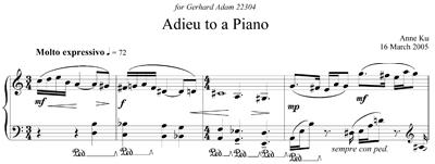 Adieu to a piano by Anne Ku