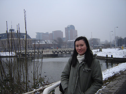 "Lan Chee Lam, composer of ""Drizzle"" in Utrecht, Feb 2010"