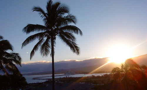 Dawn in Maui, from our balcony
