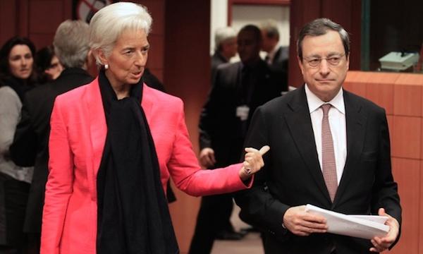 Deflazione: scontro BCE-FMI